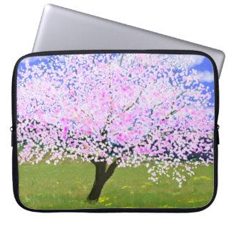 Almond in Bloom Laptop Computer Sleeves