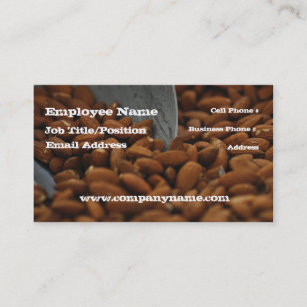 Dry food business cards zazzle almond natural food business card template friedricerecipe Choice Image