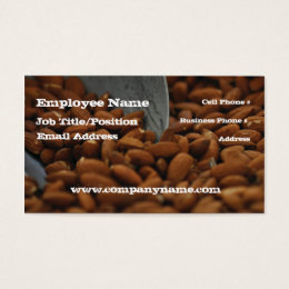 Dry food business cards templates zazzle almond natural food business card template colourmoves