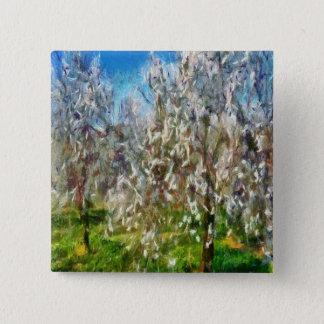Almond Orchard Blossom Button