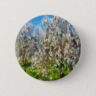 Almond Orchard Blossom Pinback Button