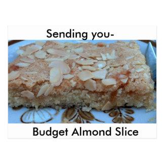 Almond Slice Recipe Postcard
