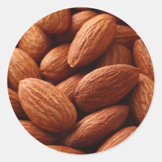 Almond Round Stickers