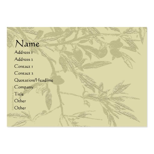 Almond Tree Branch Tan Profile Card Business Cards