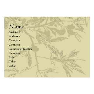 Almond Tree Branch Tan Profile Card Large Business Card