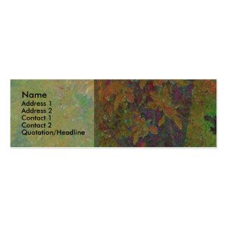 Almond Tree Glow Profile Card Mini Business Card