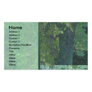 Almond Tree Green Profile Card Business Card