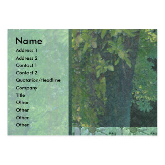 Almond Tree Green Profile Card Large Business Card