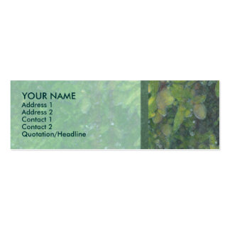 Almond Tree Green Profile Card Mini Business Card