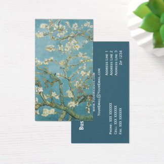Almond tree in blossom by Vincent Van Gogh Business Card