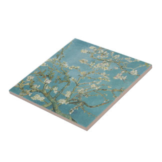 Almond tree in blossom by Vincent Van Gogh Ceramic Tile
