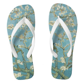 Almond tree in blossom by Vincent Van Gogh Flip Flops