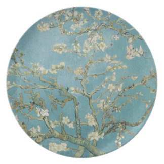 Almond tree in blossom by Vincent Van Gogh Party Plates