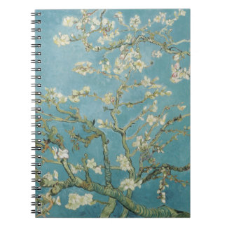 Almond tree in blossom by Vincent Van Gogh Spiral Notebook