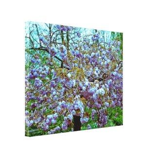 Almond Tree in Monet's Garden zazzle_wrappedcanvas