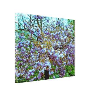 Almond Tree in Monet's Garden Canvas Print