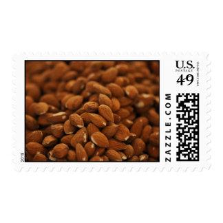 Almonds Background Postage Stamp
