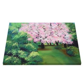 almonds tree in flower canvas print