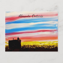 Almonte, Ontario Town Hall - Postcard