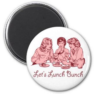 Almorcemos gráfico retro de los años 50 del manojo imán redondo 5 cm