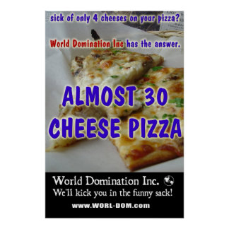 Almost 30 Cheeze Pizza Poster