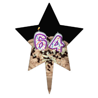 Almost 64... 64th Birthday Cake Cake Topper