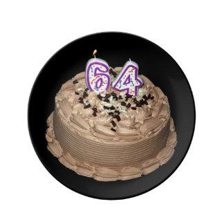 Almost 64...Birthday Keepsake Porcelain Cake Plate