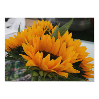 "Almost a Sunflower Save the Date Card 5"" X 7"" Invitation Card"