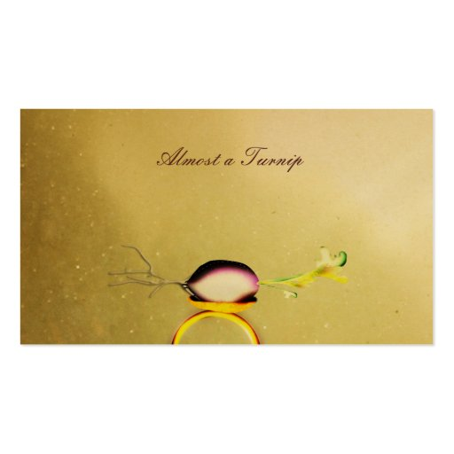 Almost a Turnip luxurious Gold Paper Business Card
