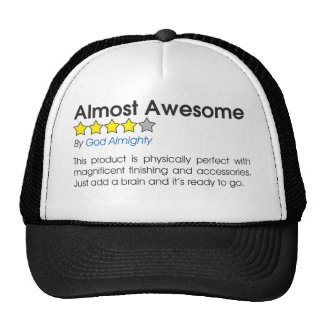 Almost Awesome Funny Review Hats