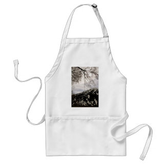 ALMOST BLACK AND WHITE ADULT APRON