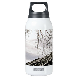 ALMOST BLACK AND WHITE 10 OZ INSULATED SIGG THERMOS WATER BOTTLE