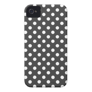Almost Black Polka Dot Iphone 4/4S Case