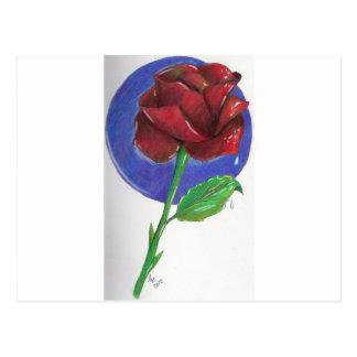 Almost Black Rose Postcard