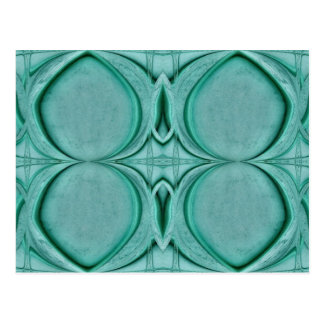 almost circle turquoise postcard