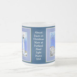 Almost Dawn on Christmas Morn  Frosted Glass  Mug