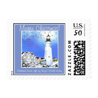 """Almost Dawn on Christmas Morn"" Postage"