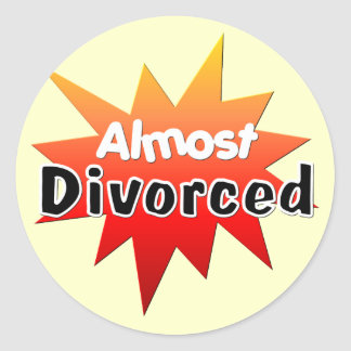 Almost Divorced Classic Round Sticker