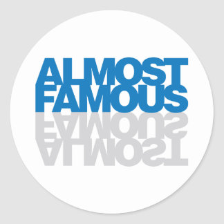 Almost Famous - Blue Classic Round Sticker