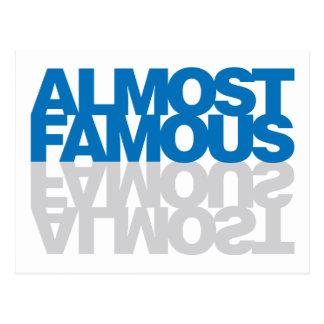 Almost Famous - Blue Postcard