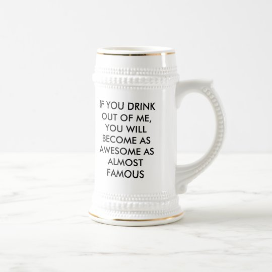 """ALMOST FAMOUS """"DRINK 2 ROCK"""" STEIN"""