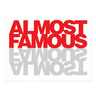 Almost Famous - Red Postcard