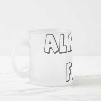 Almost Fini Frosted Glass Coffee Mug