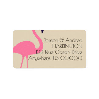 Almost Flamingo Return Address Label