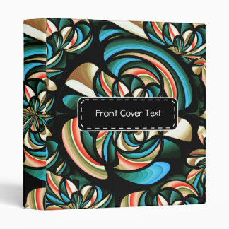 Almost floral abstract binder