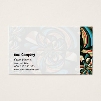 Almost floral abstract business card