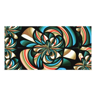 Almost floral abstract card