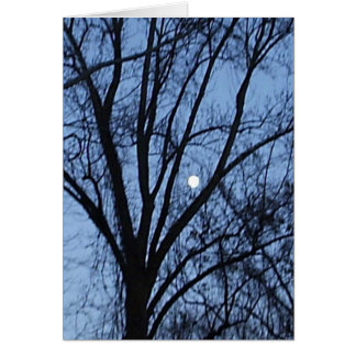 Almost Full Moon 2 Greeting Card