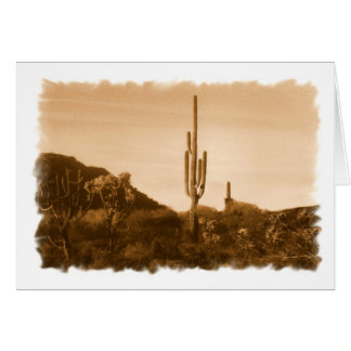 almost gone (desert in sepia) card