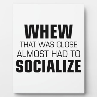 Almost Had To Socialize Display Plaques